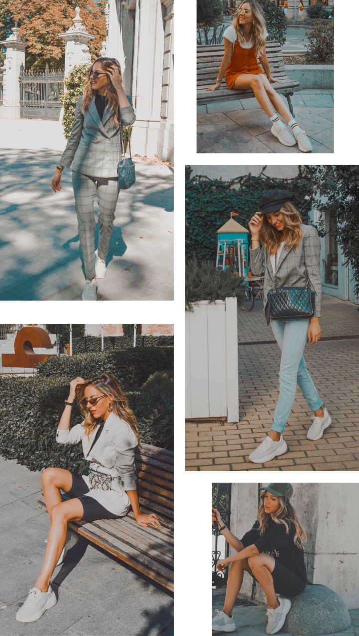 5 looks diferentes con zapatillas